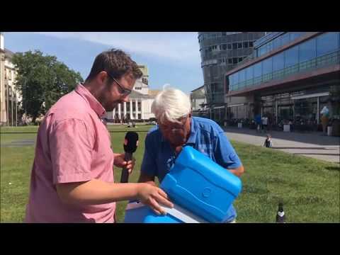 Radio Duisburg verteilt Eis
