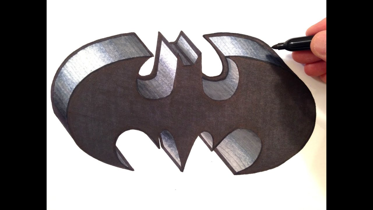 Batman Logo Drawings Easy