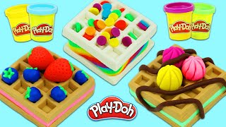 How to Make Delicious Looking Play Doh Dessert Waffles | Fun & Easy DIY Play Dough Arts and Crafts!