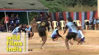 Girls' Kho Kho final match in progress
