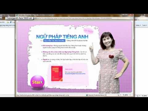 Hướng dẫn xem video bài giảng tiếng anh trên IE 6 7 8 - tienganh.hoc360.vn