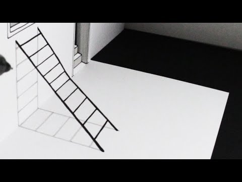 How to Draw a Ladder 3D Trick Art