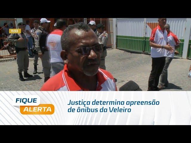 Justiça determina apreensão de ônibus da Veleiro
