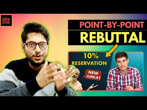 Rebuttal to Dhruv Rathee on 10% Reservation Bill | An Open Letter