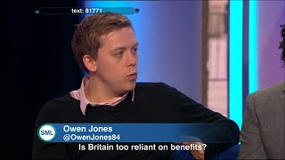 Owen Jones v Sunday Morning Live: Is Britain too reliant on benefits?
