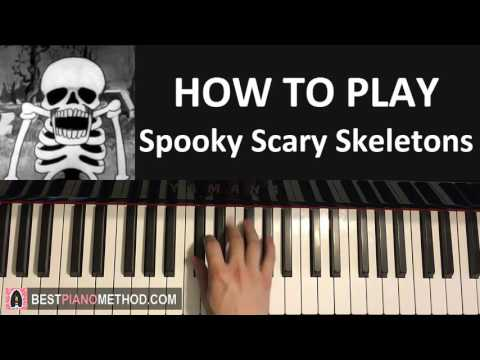 HOW TO PLAY - Spooky Scary Skeletons (Piano Tutorial Lesson)