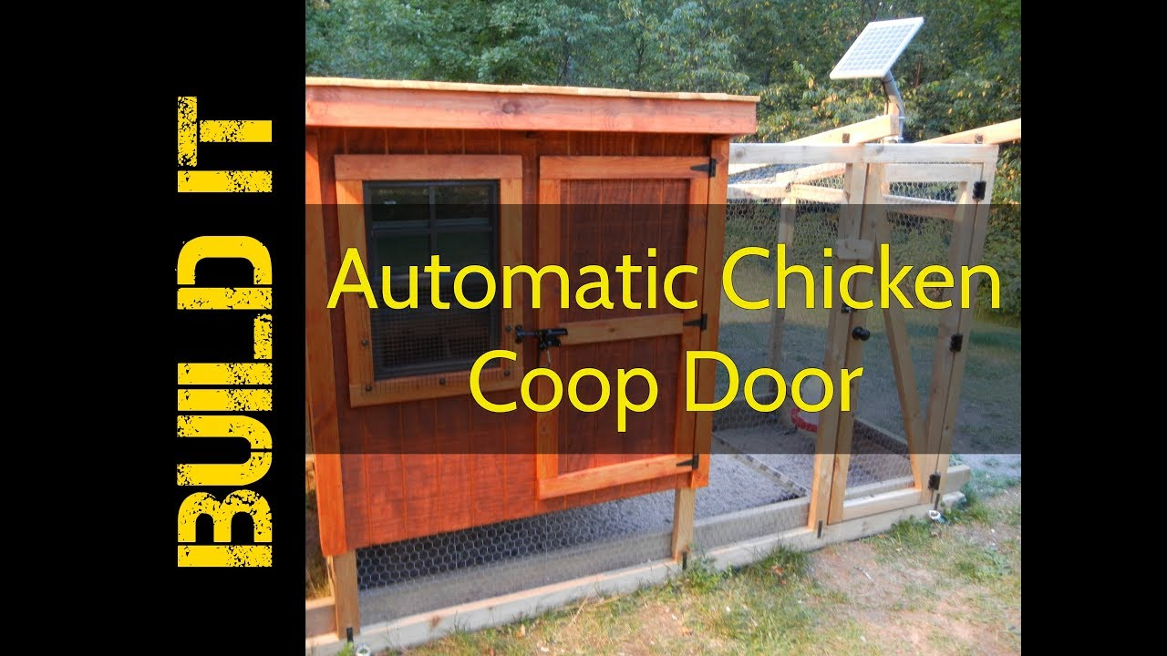 An Automatic Chicken Coop Door Opener