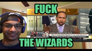 "STEPHEN A SMITH ""FUCK THE WASHINGTON WIZARDS!"" (First Take REACTION) John Wall, Bradley Beal, Morris"