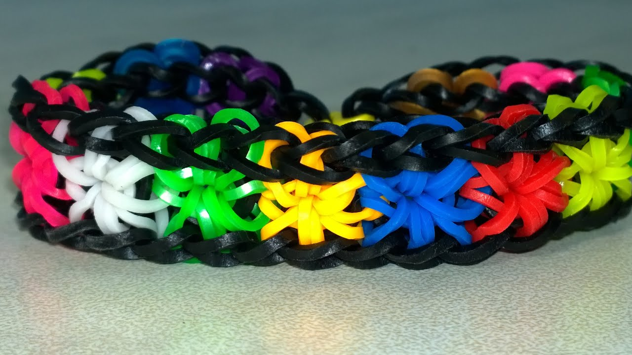 rainbow bracelet photo colorful hands rings elastic rubber stock bracelets loom band bands image girls