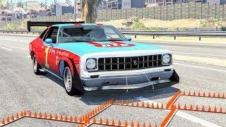 Massive Spike Strip Pileup Crashes #17 – BeamNG Drive | CrashBoomPunk