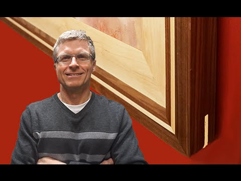Walnut and Maple Picture Frame