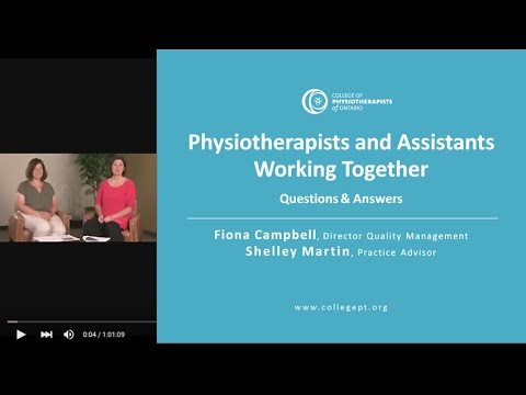 Webinar: Questions And Answers On PTs And PTAs Working Together