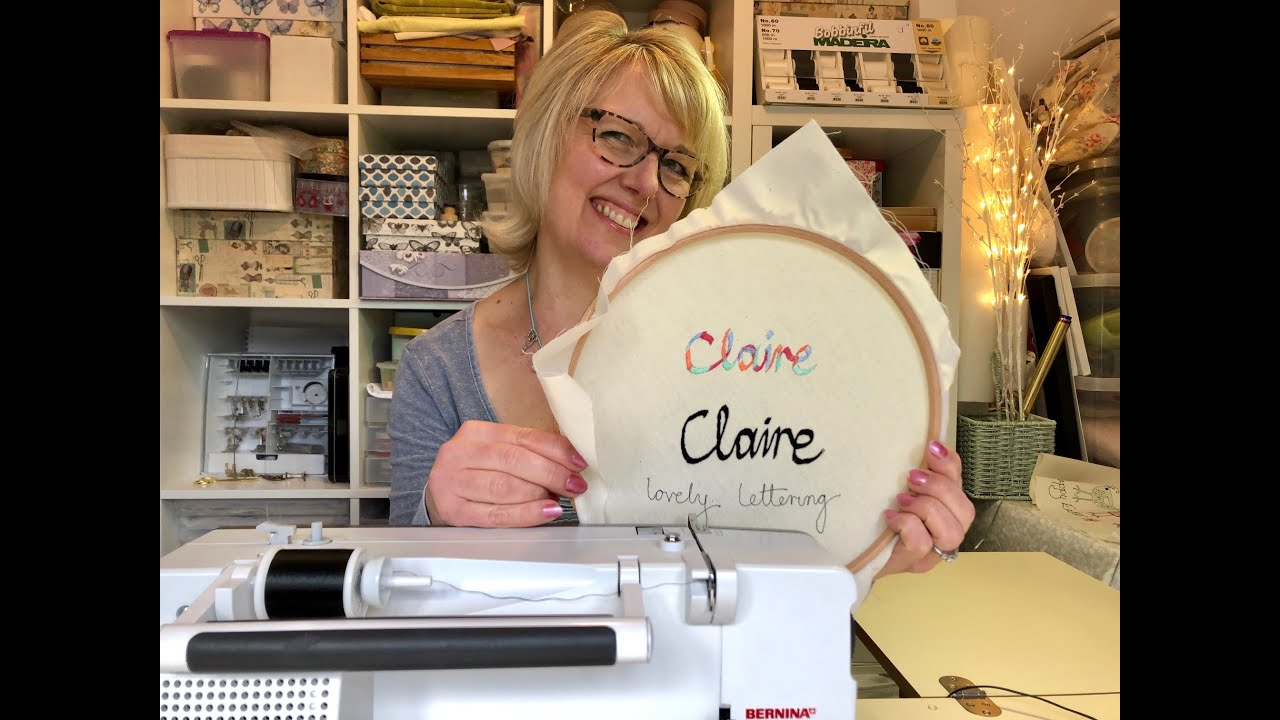 Free Machine Embroidered Lettering Made easy