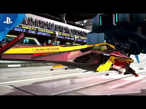 WipEout Omega Collection - Release Date Trailer | PS4