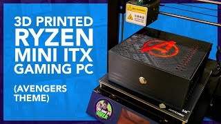 3D Printed Ryzen Mini ITX Gaming PC (Avengers Theme)