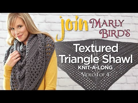 How to Knit Textured Triangle Shawl Knit-along Video 1 of 4