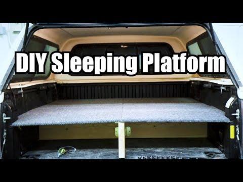 Quick and Easy DIY Truck Bed Sleeping Platform