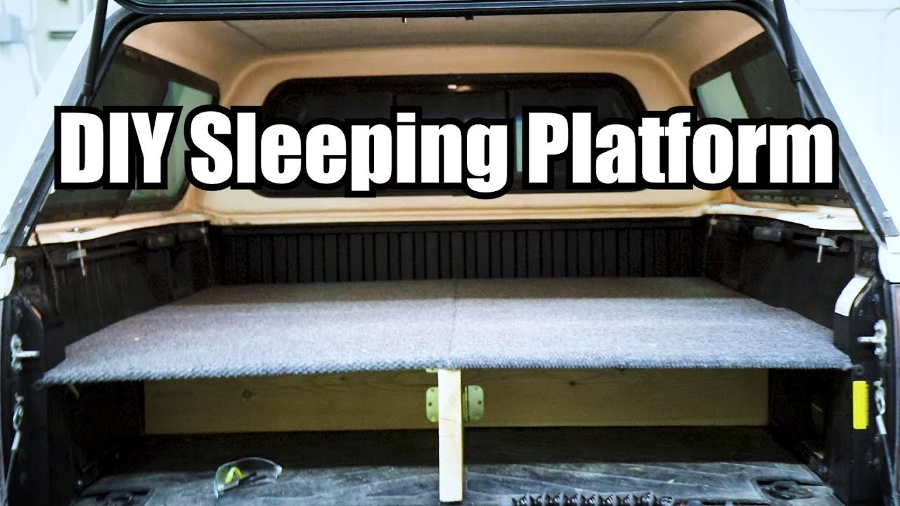 Quick And Easy DIY Truck Bed Sleeping Platform