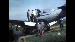 t-28 trojan pilot Nachampassak landing after being wounded laos 1970