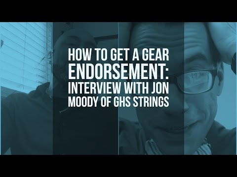 How to get Gear Endorsments (or not): An Interview with Jon Moody of GHS Strings