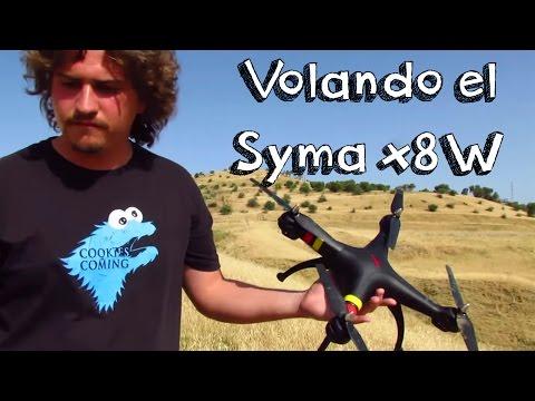VUELO SYMA X8W WIFI EN ESPAÑOL: Review en español de drones baratos calidad precio