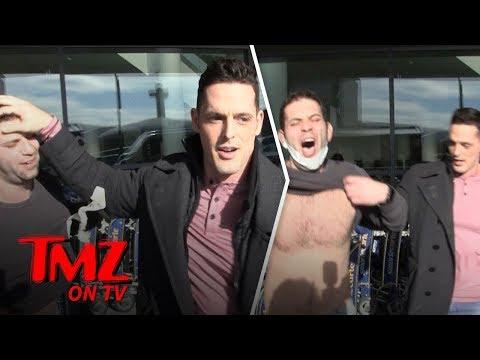 Mr. Pec-Tacular Flips The Script On Our Cameraman | TMZ TV
