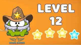 Cut The Rope: Time Travel - Level 8-12 [Wild West] 4 Stars Walkthrough