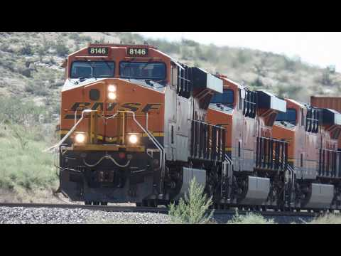 Long Trains Compilation Route 66 Arizona Sights HQ