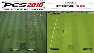 PES 2010 vs FIFA 10 Split Screen Gameplay - PC