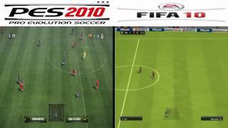 PES 2010 vs FIFA 10 Split Screen Gameplay - PC