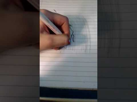 Blank paper turns into something