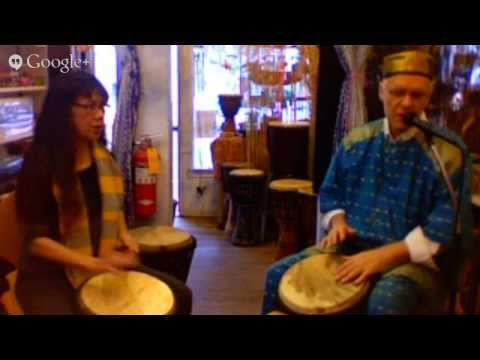 drumming meditation workshop at Seasons in Santa Monica with Russell Buddy Helm