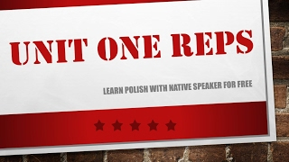 Learn Polish - Unit 1 - Repetitions 40 min of Polish phrases - polish for beginners