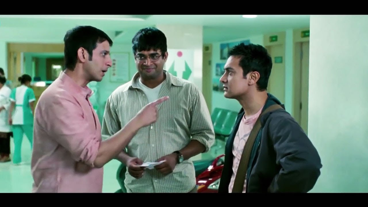 कमीने तू बाबा को स्कूटर पे हॉस्पिटल ले आया - आमिर खान - शरमन जोशी - हिंदी कॉमेडी वीडियो