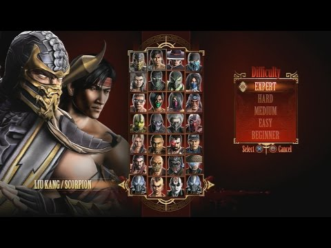 Mortal Kombat 9 - Expert Tag Ladder (Liu Kang & Scorpion/3 Rounds/No Losses)