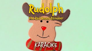 Rudolph the Red-Nosed Reindeer (lyrics video for karaoke - instrumental)