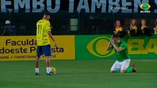 Neymar dá drible ESPETACULAR no Fred do Desimpedidos!