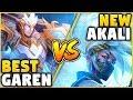 THEGLACIERR VS PROFESSOR AKALI! DIAMOND GAREN MAIN VS #1 REWORKED AKALI WORLD! -League of Legends