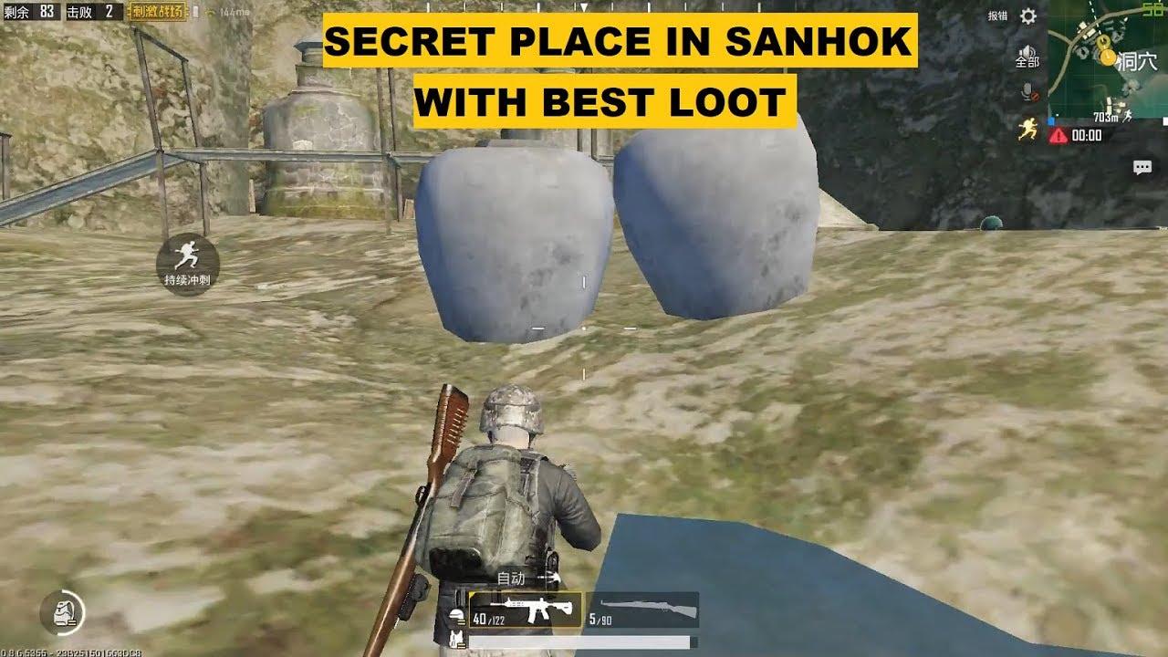 SECRET CAVE IN SANHOK MAP, PUBG MOBILE
