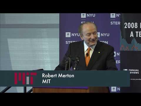 2008 Financial Crisis: A Ten-Year Review conference. Speaker: Robert Merton