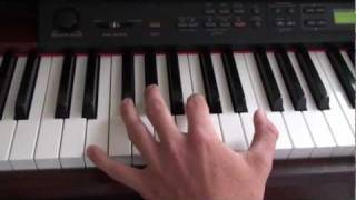 How to play - Halo Main Theme on piano (Tutorial part 1) 1/5