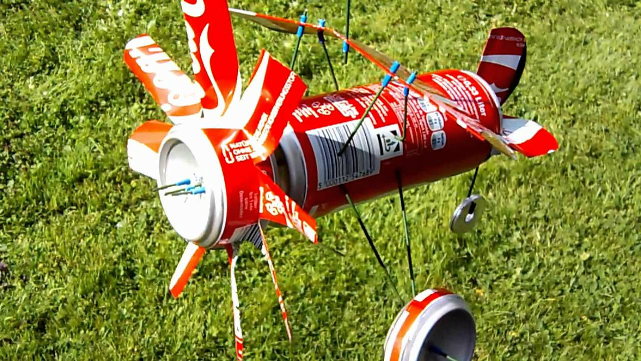 Coke Can Plane Whirligig Youtube