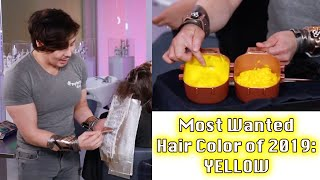 Bright Yellow Ombre Hair Tutorial