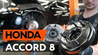 Wie HONDA ACCORD VIII (CU) Domlager austauschen - Video-Tutorial