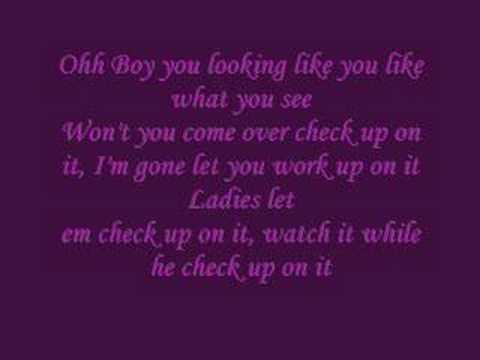 Beyonce feat Slim Thugh  Check On it Lyrics