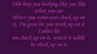 Beyonce feat. Slim Thugh - Check On it Lyrics