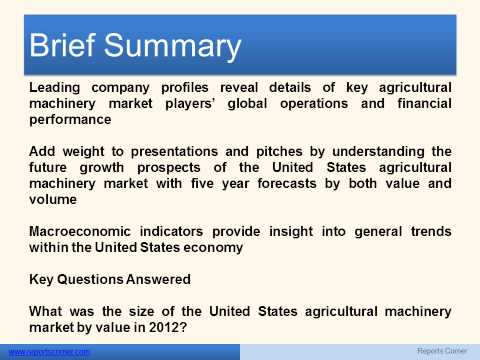 Agricultural Machinery in the United States - Reports Corner