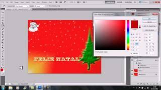 Postal de natal simples (simple Christmas card) (Photoshop Cs5)