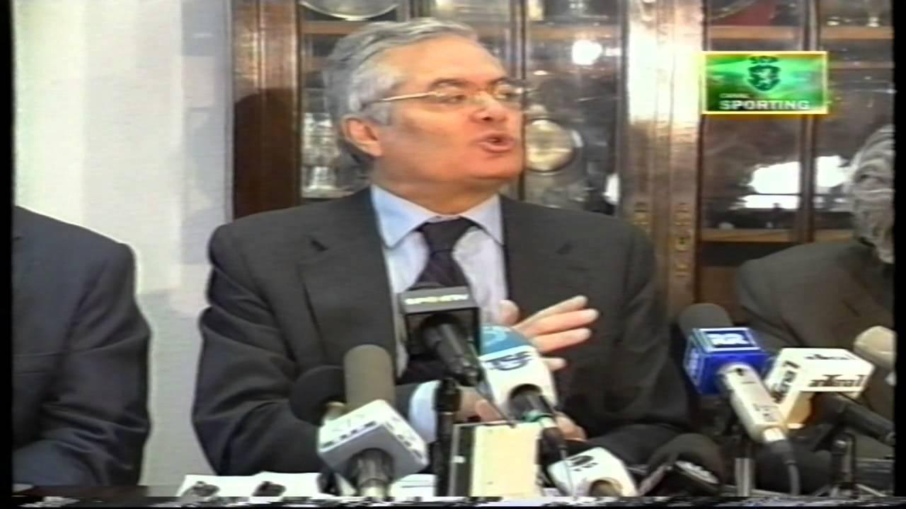 José Roquette anuncia medidas para um «novo ciclo de vida» no Sporting em 17/12/1998