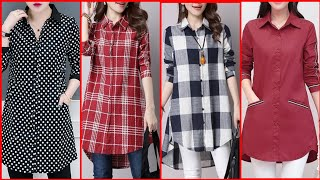 Top Stylish Casual Wear Comfortable Cotton Shirts Design For Girls